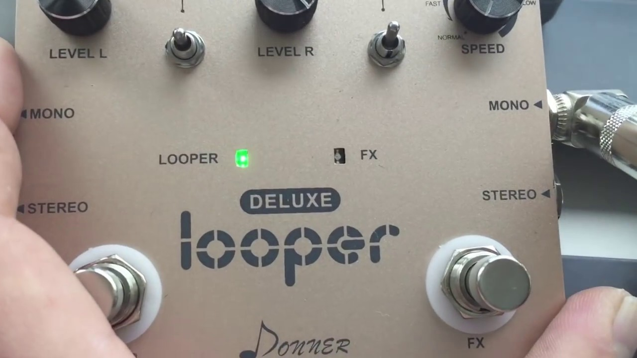 deluxe looper guitar effect pedal donner first look review youtube. Black Bedroom Furniture Sets. Home Design Ideas