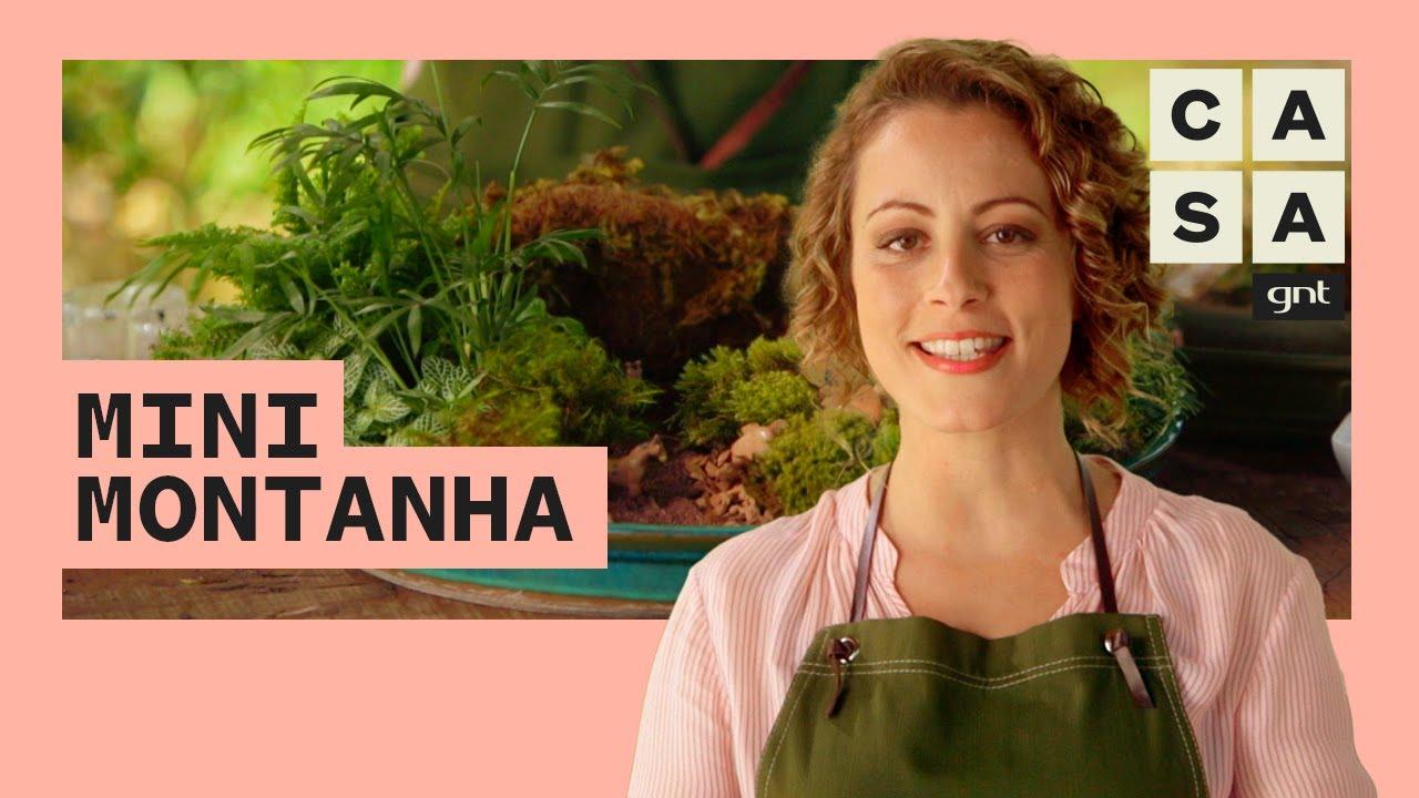 Aprenda a fazer um ARRANJO reproduzindo uma MONTANHA em miniatura | Jardinagem | Carol Costa