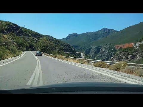 Kalamata to Sparta through Taygetous Pass, Peloponnese, Greece