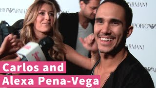 "Carlos Pena-Vega watches Alexa do the ""Funky Chicken"""