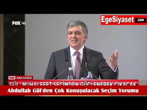 Abdullah Gül'den Çok Tartışılacak Seçim Yorumu