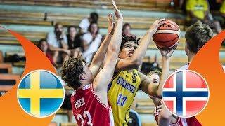 Sweden v Norway - CL 17-24 - Full Game - FIBA U16 European Championship Division B 2018 thumbnail