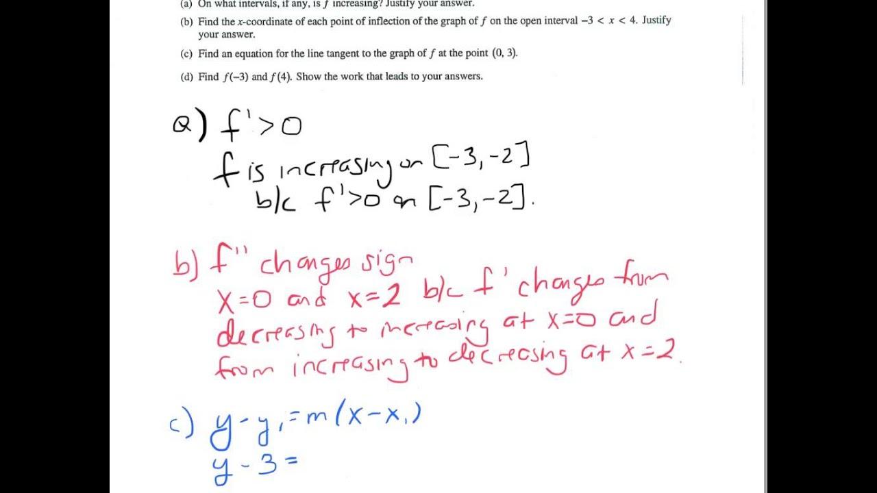 Ap Calculus Ab 2003 4 Youtube