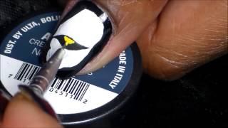 One Nail Tutorial - BLEACH ICHIGO HOLLOW MASK