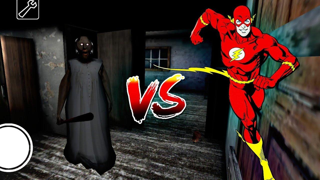 Granny vs flash - YouTube