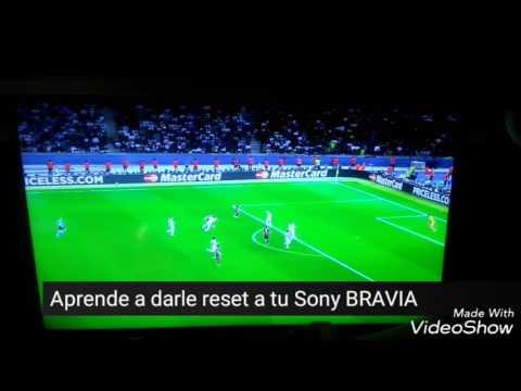Como restaurar a modo de fábrica tu tv SONY BRAVIA