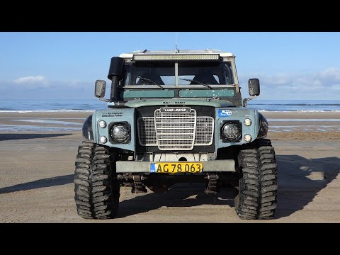 Heavy Modified Land Rover Serie 2 Going Off-Road at Løkken Beach Tour 2020 | Vintage Cars