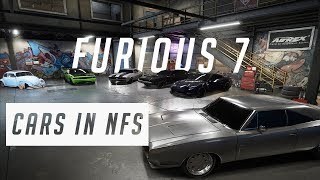 Furious 7 Cars in Need For Speed Payback - 1080pHD