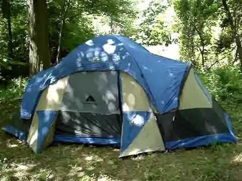 & Ozark Trail 16 x 10.5 family dome tent - YouTube