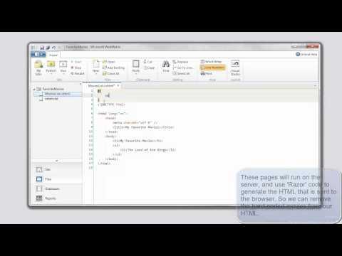 Microsoft Webmatrix - A Free, Cloud-Connected Website