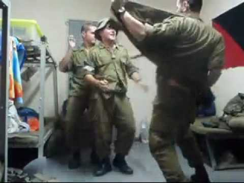 israeli soldiers dancing to