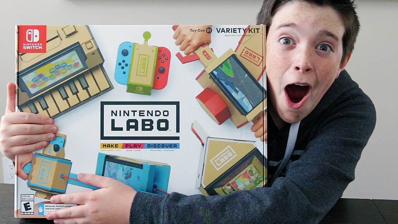 THEY GAVE US A NINTENDO LABO KIT!! FULL UNBOXING!!
