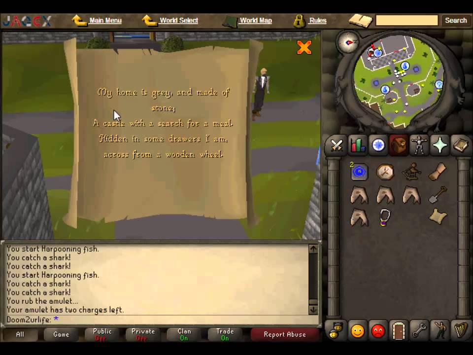 Rs\'07 Clue Scroll Guide [My home is grey, and made of stone..] (with ...