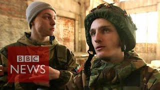 Ukraine crisis: BBC films as troops told of peace deal