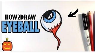 How to Draw a Spooky Eyeball - Halloween Drawings