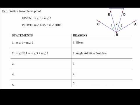 2-6 Segment And Angle Proofs Ex 1