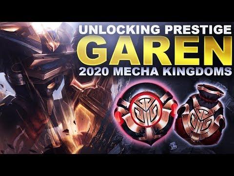 UNLOCKING MECHA PRESTIGE GAREN! MECHA KINGDOMS LOOT 2020! | League Of Legends