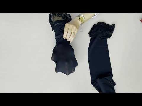 Prezentare ciorapi cu banda adeziva si model Fiore Dominique 40 den