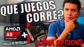 QUE JUEGOS CORRE ESTA PC GAMER BARATA? (AMD A8 + GTX 1050 ) HAY CUELLO DE BOTELLA?