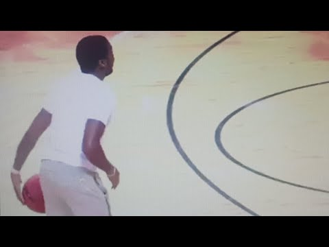 Meek Mill Showing Off His Basketball Skills