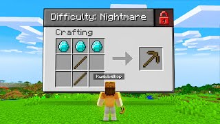 Playing On NIGHTMARE DIFFICULTY In Minecraft!