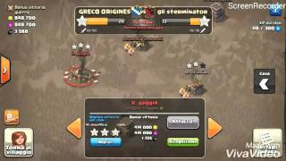 [GRECO ORIGINES] TH9 vs TH9: M4X ATTACK (Stoned LavaLoon) Clash of Clans ITA