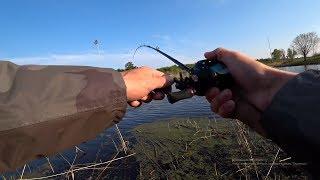 ЩУКА ОШАЛЕЛА от приманки с красной головой! Рыбалка на спиннинг.