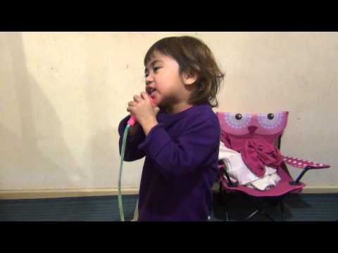 3 year old singing chandelier :)