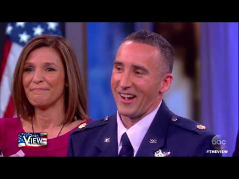 Former Sec. of Defense Rumsfeld Surprises Air Force Major With Promotion To Lieutenant Colonel