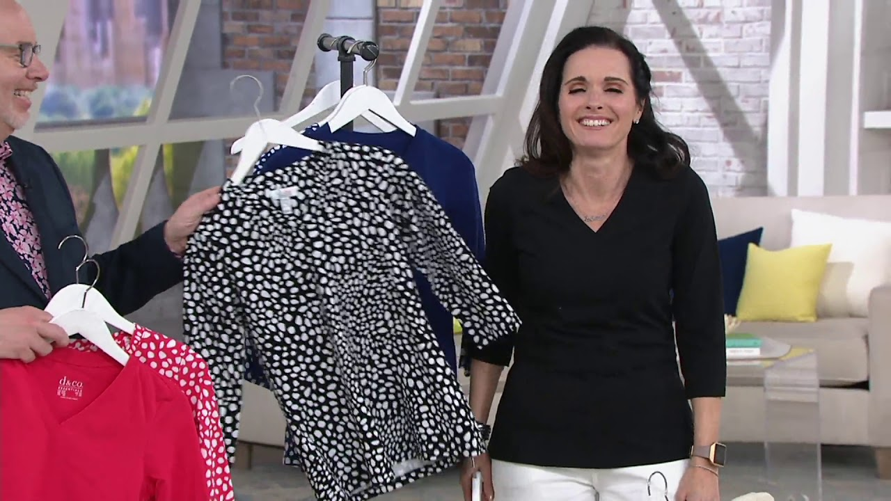 large assortment modern and elegant in fashion best online Denim & Co. Essentials Perfect Jersey Set of Two V-Neck Tops on QVC