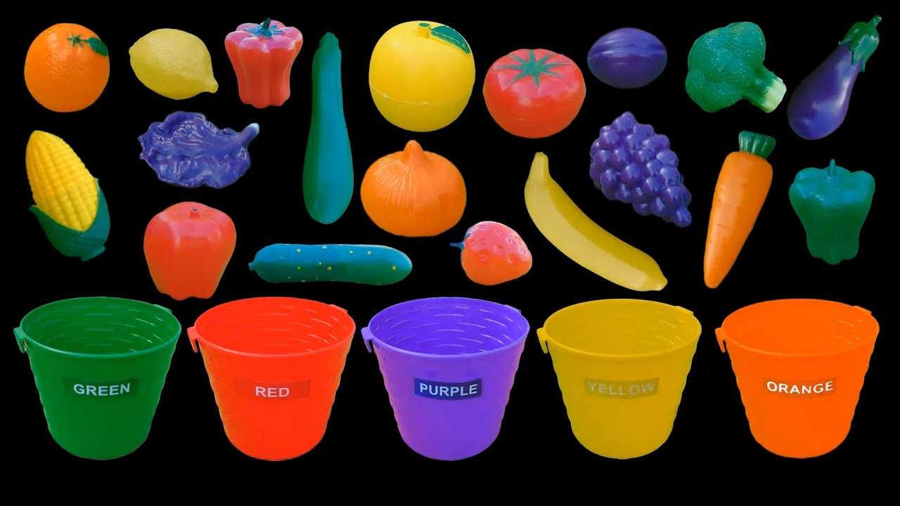 Fruit and Vegetable Colors Color Sorting The Kids Picture