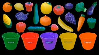 Fruit and Vegetable Colors - Color Sorting - The Kids