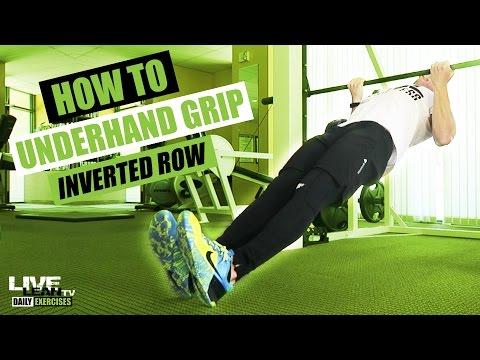 how-to-do-an-underhand-grip-inverted-row-|-exercise-demonstration-video-and-guide