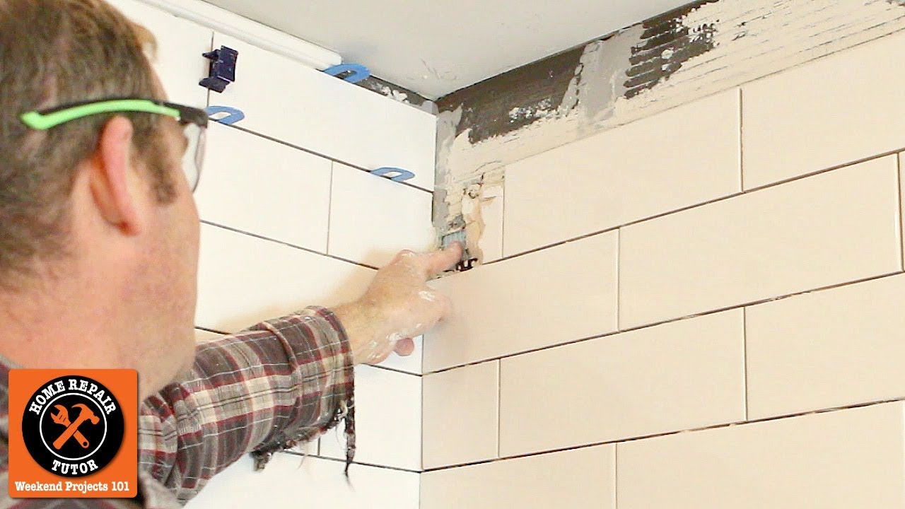 How To Replace A Broken Tile Shower Wall Repair