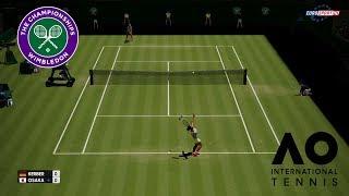 ANGELIQUE KERBER VS NAOMI OSAKA | WIMBLEDON 2018 | AO INTERNATIONAL TENNIS | PC GAMEPLAY