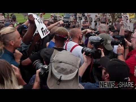 Crowd Confronts Nazi in Gainesville, FL