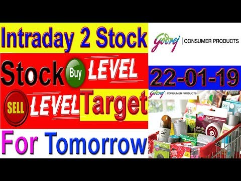 Intraday trading stock tips for tomorrow # Strong level in Hindi | 22-01-19
