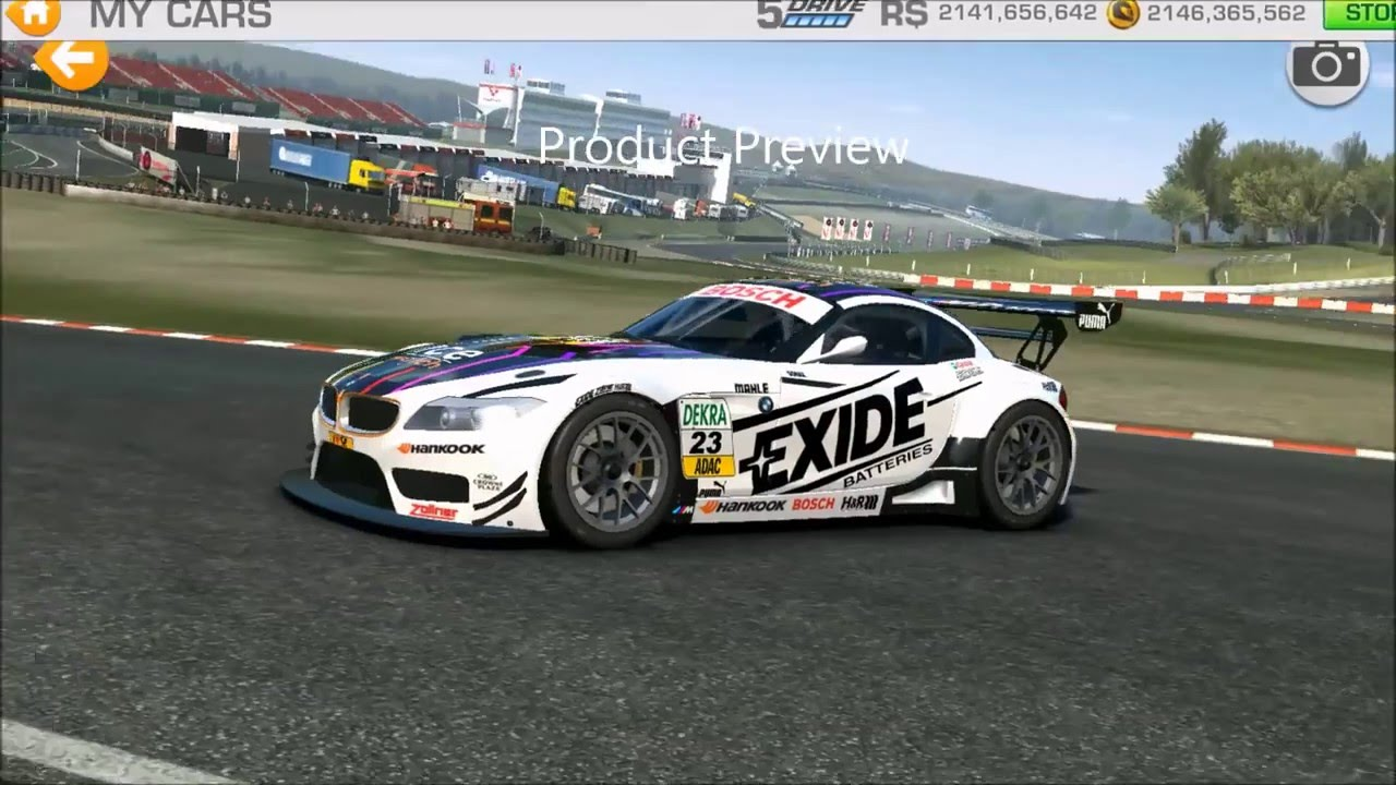 Real Racing Skin Bmw Stickers