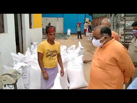 #TheDeoriaTimes सदर विधायक ने किया गेहूँ क्रय केन्द्र का औचक निरीक्षण