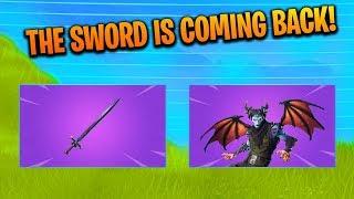 "NEW ""MEDIEVAL SWORD"" Update! New ITEM SHOP Skins! And GAMEPLAY! (Fortnite Battle Royale LIVE)"