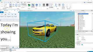How to Turn a Mesh in to a Car in Roblox Studio