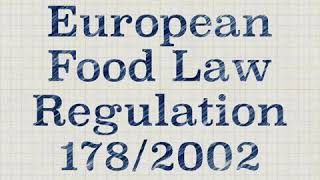 European Food Laws