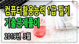 컴활1급 필기 기출문제( 2019년3월)