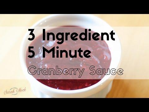 5 minute cranberry sauce
