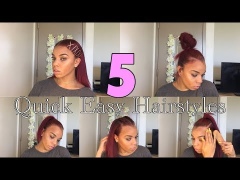 5 Hairstyles For Straightened Natural Hair In 5 Minutes |  | Krystal Kinslow