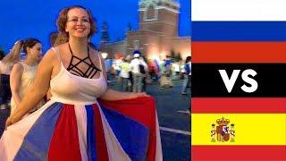 Смотреть видео Что происходило в Москве, когда Россия победила Испанию. Чемпионат Мира по Футболу 2018 онлайн