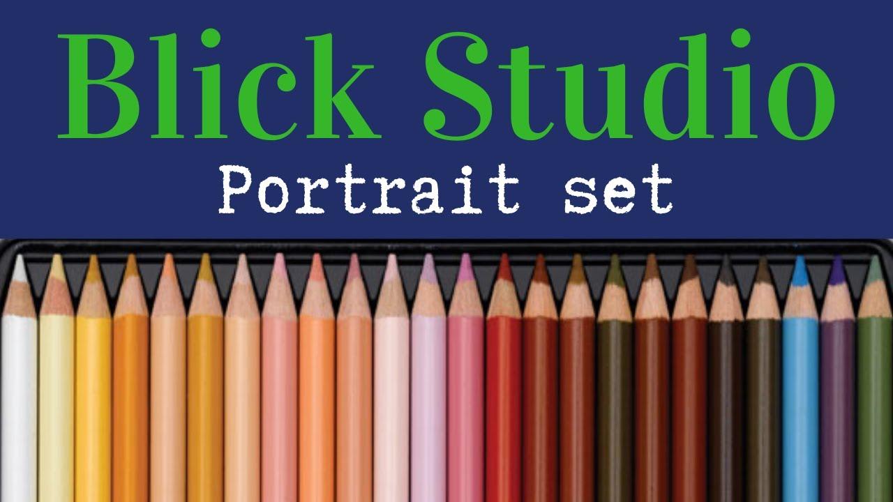 Blick Studio Artists' Colored Pencils  -  Portrait set of 24