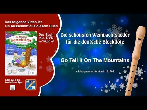 ♬-go-tell-it-on-the-mountain-☆-deutsche-blockflöte-☆-weihnachtslieder-☆