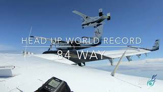 84 Way Head Up Freefly World Record, Skydive Chicago, August 2019