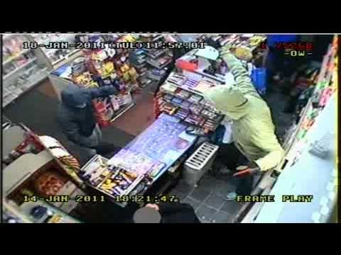 CCTV of store robbery